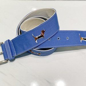 Basset Hound Dog Belt Blue Womens Mens Dog Lover